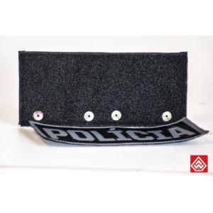 Combo Porta ID G + Patch Policia G PRETO